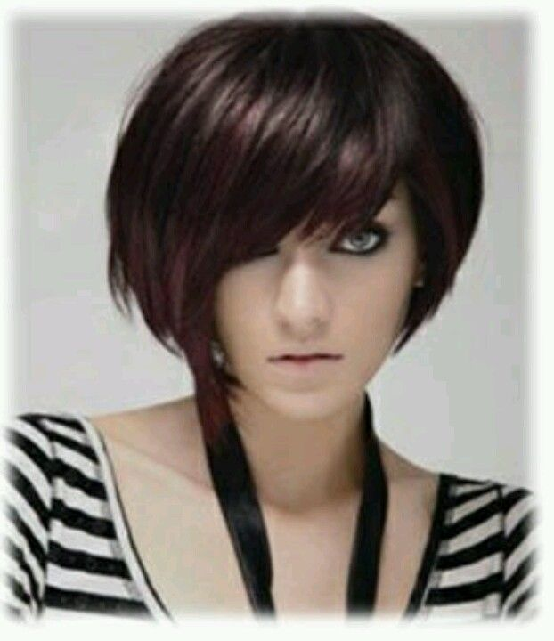 bangs hair styles purple highlights on brown hair purple highlights 5049