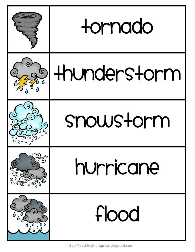 Teaching In Progress Teaching Weather Preschool Weather Weather Words [ 1056 x 816 Pixel ]