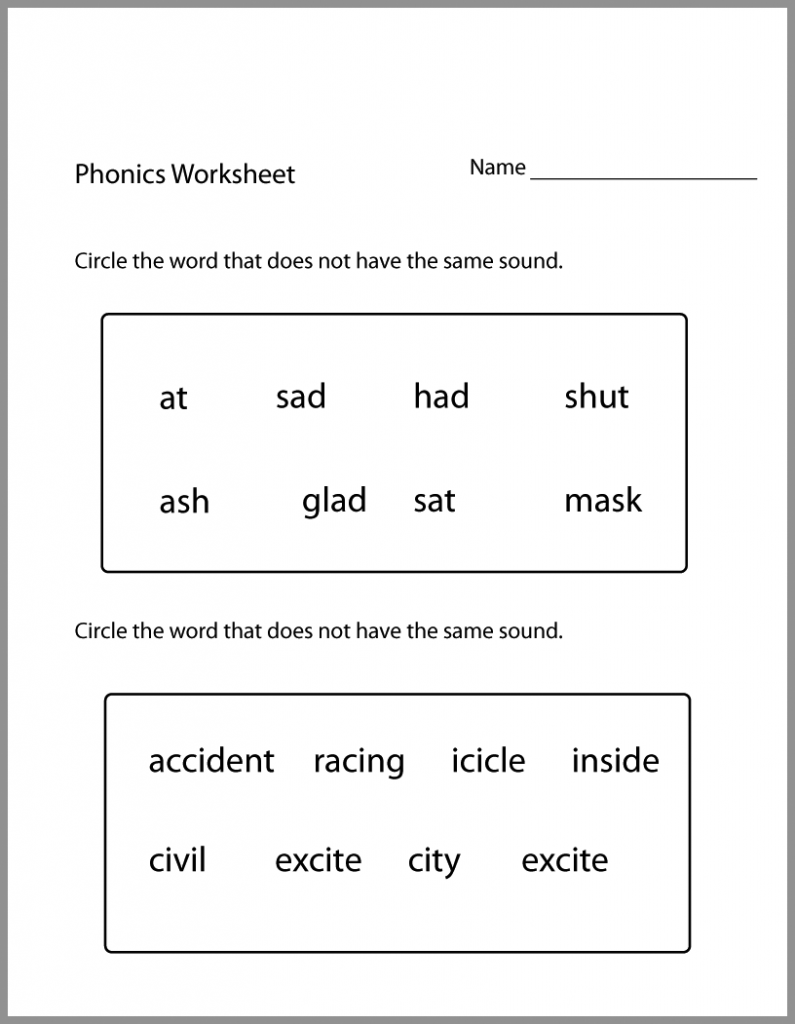 1st Grade English Worksheets Phonics worksheets, Phonics