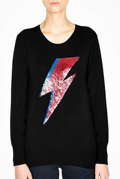 0e87f88a74 Markus Lupfer Bowie Lightning Sequin Wool Jumper