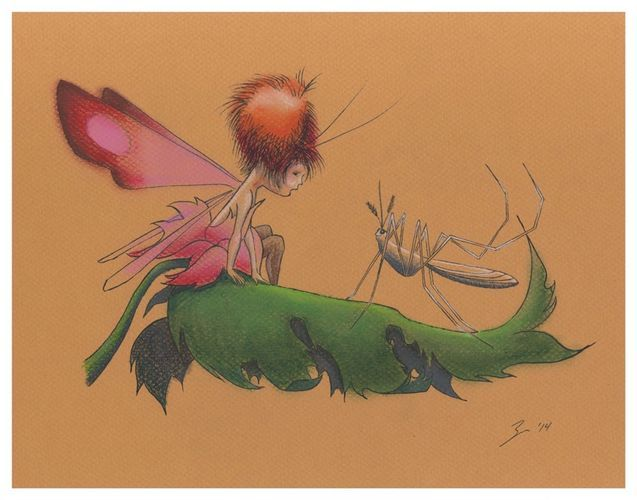 Zeee And Zoan Ink And Pastel By Zeea Adams This Fairy Is My Namesake Art Comic Book Style Coloring Books