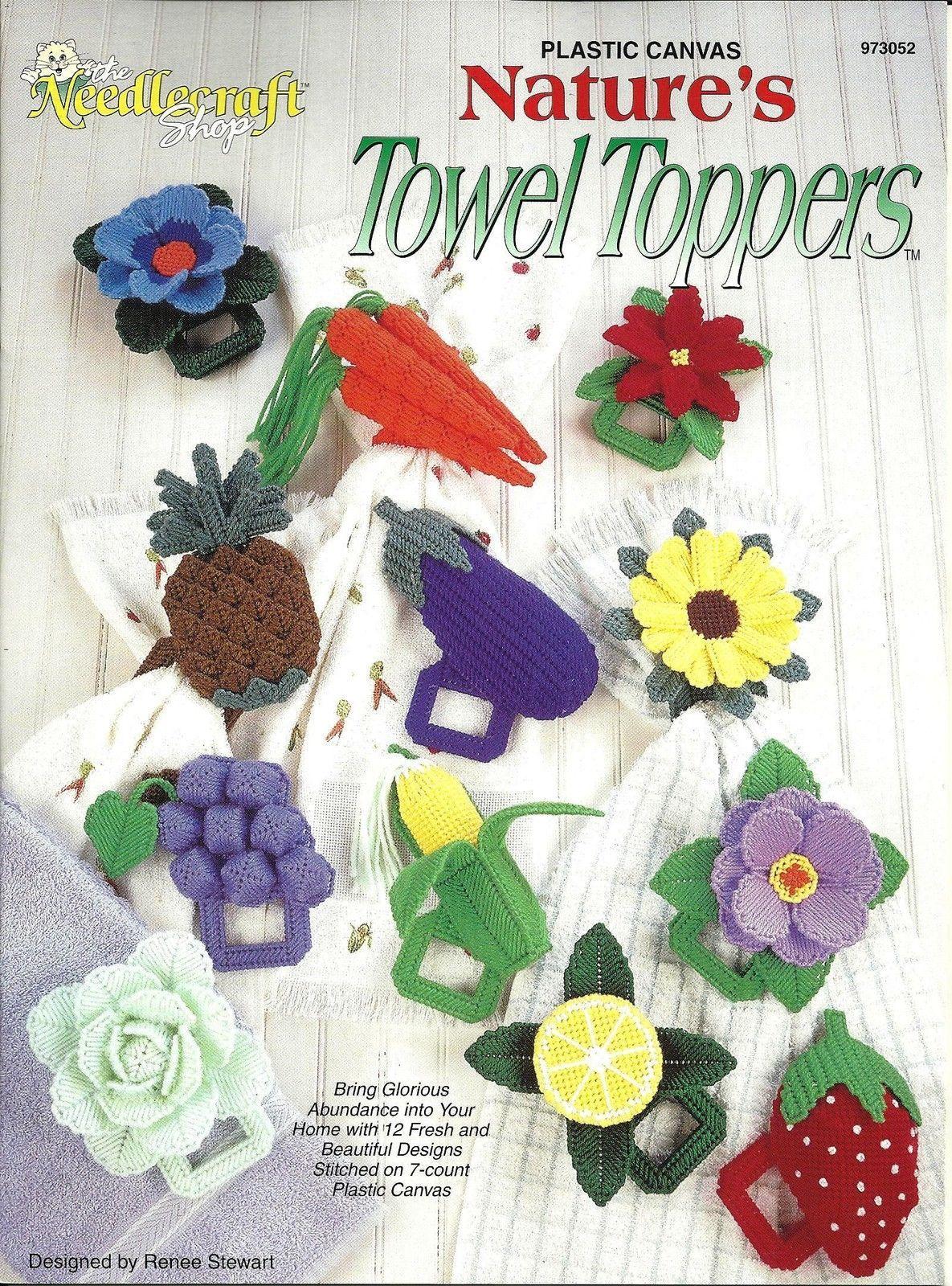 Spring Lily /& Iris  ~~  plastic canvas pattern ~ Annie/'s