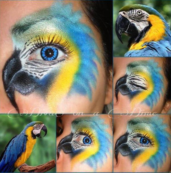 Parrot Halloween Eye Makeup | #AllTheHalloween | Pinterest ...