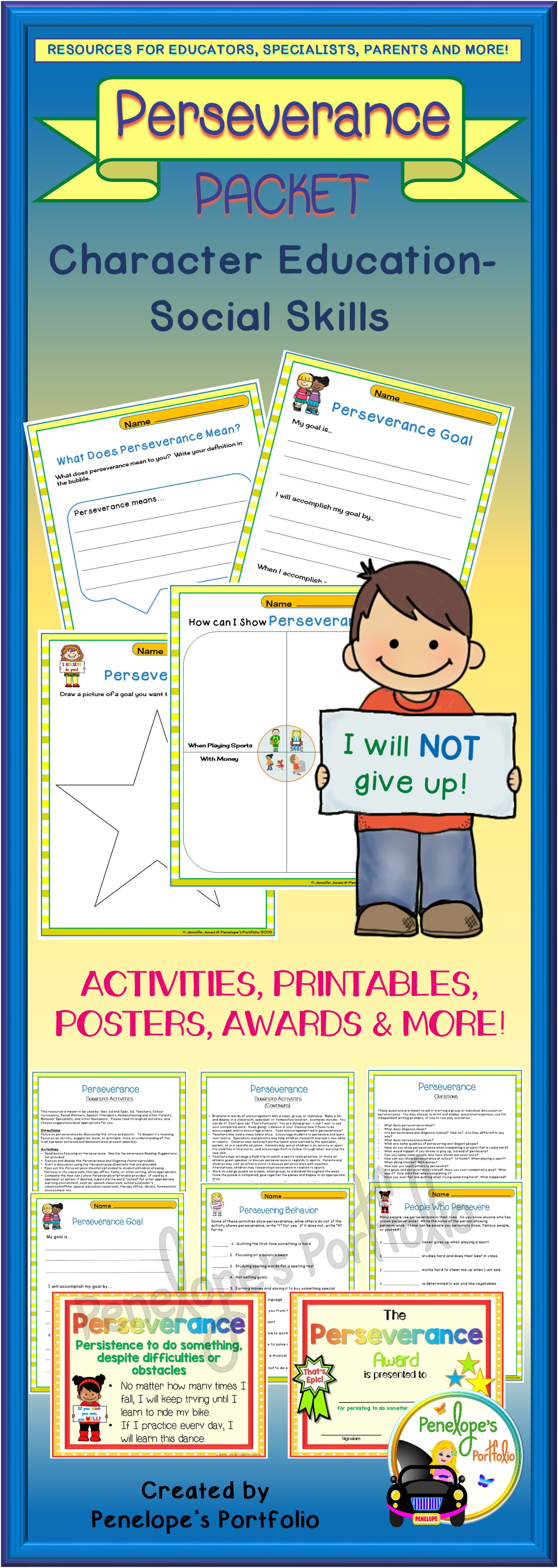 Perseverance Activities And Worksheets