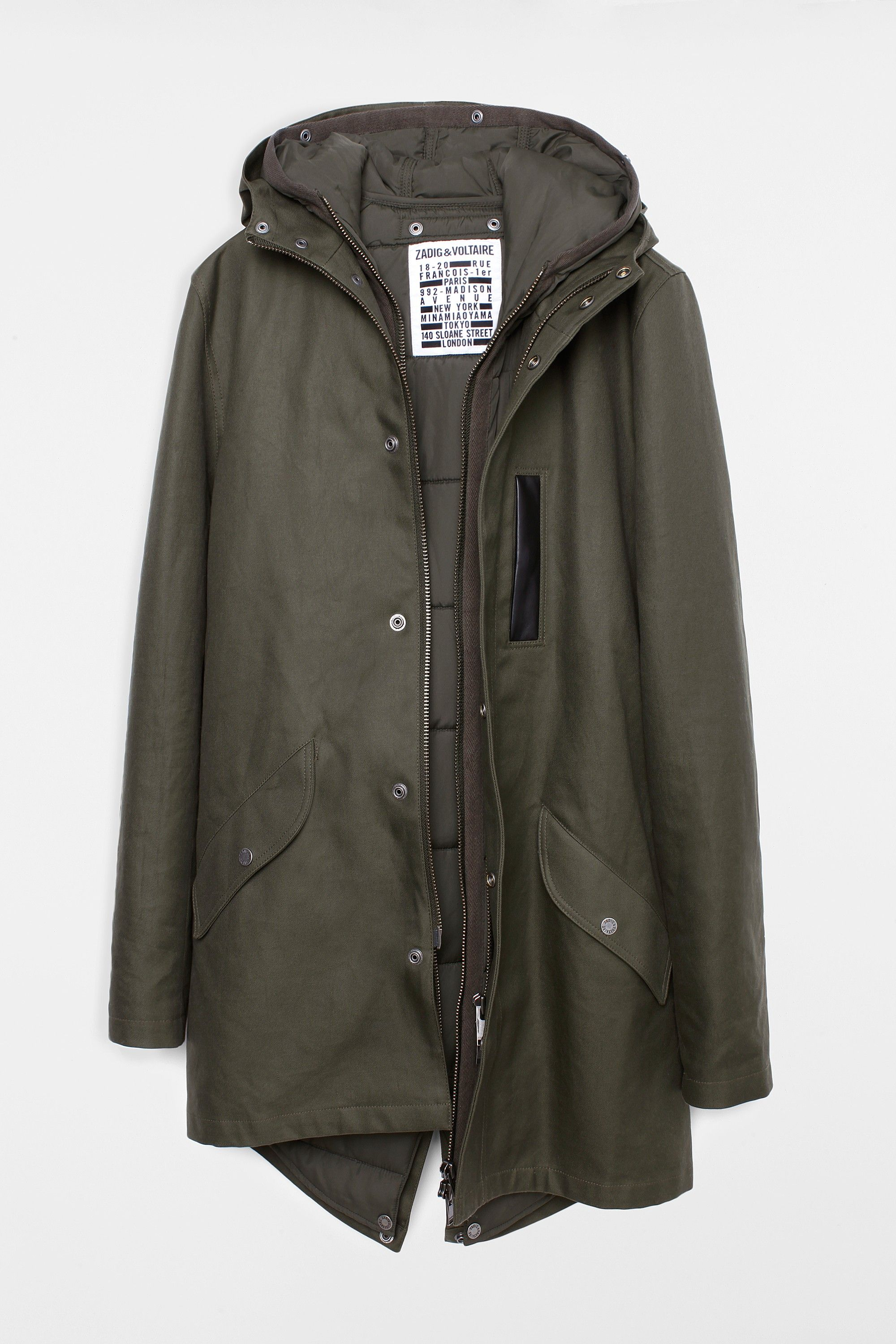 Kart Amo Men Parka, khaki, Zadig & Voltaire | fashion | Pinterest ...