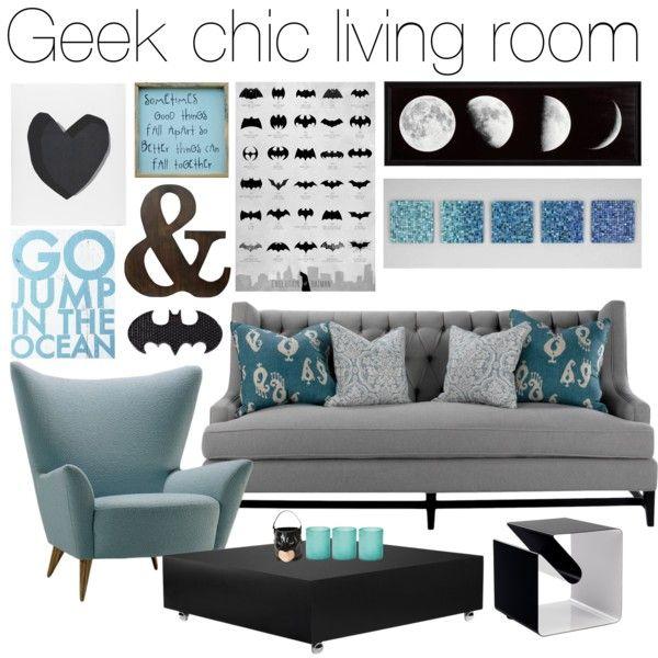 Can You Spot The Geek Chic Touches Batman Livingroom Geekchic Geek Home Decor Chic Living Room Home Decor
