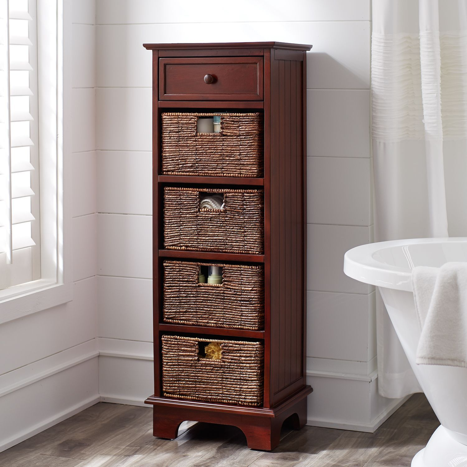 Best Holtom Tall Chestnut Brown Cabinet Cabinet Brown 400 x 300