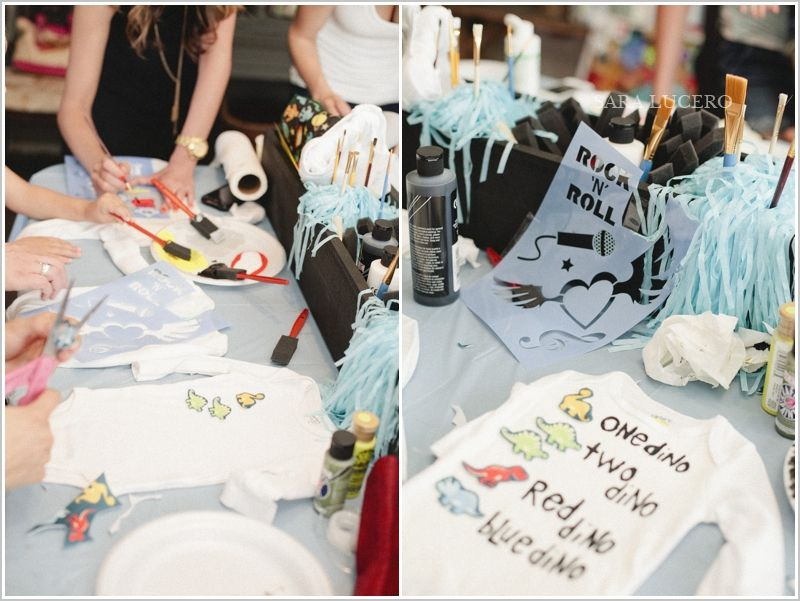 Attractive DIY Onesie Decorating Baby Shower!