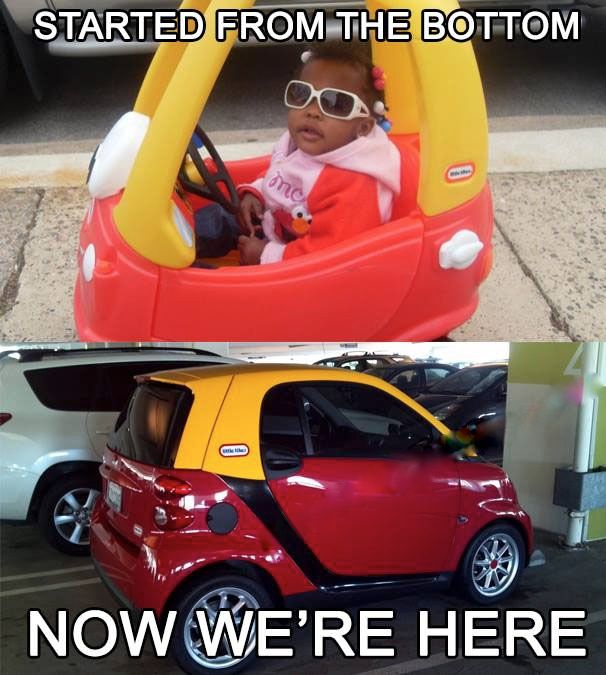 e2b20ab8b1a755db6e1c5bea4f89998b started from the bottom now we're here drake from toy car to
