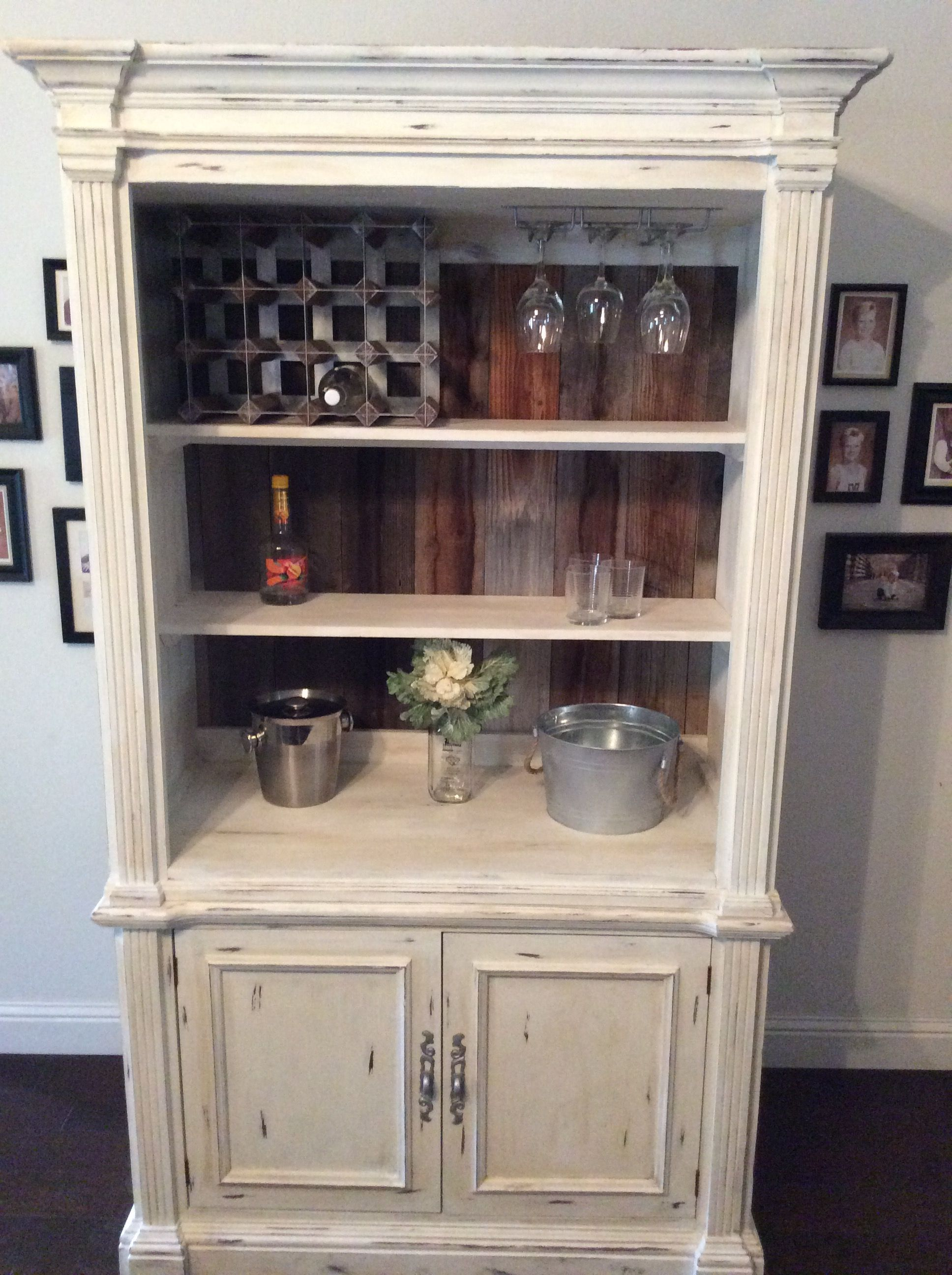 Cherry Tv Cabinet Turned Into China Hutch Or A Wine