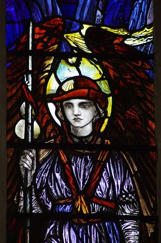 https://flic.kr/p/5YfXGc | Christopher Whall's Window - Detail | St Andrew's Church, Chippenham, Wiltshire by Christopher Whall, 1918