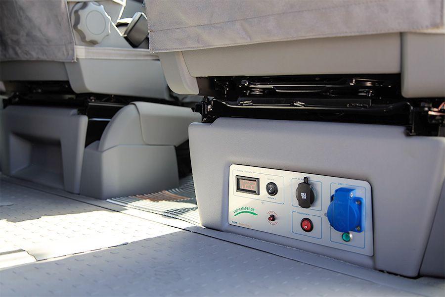dbm power panel unter dem beifahrersitz bus pinterest. Black Bedroom Furniture Sets. Home Design Ideas