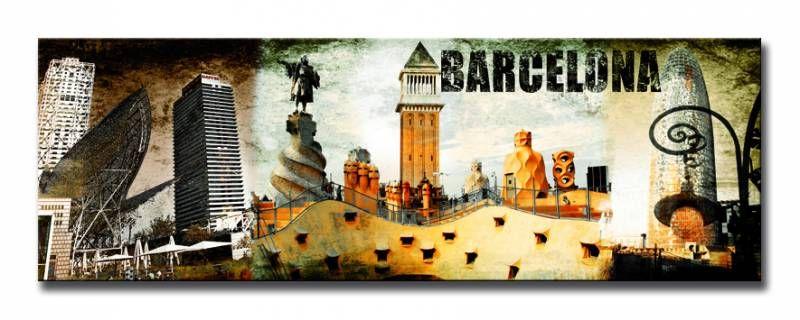 Cuadro Barcelona Collage 02 | relojera | Pinterest | Barcelona ...