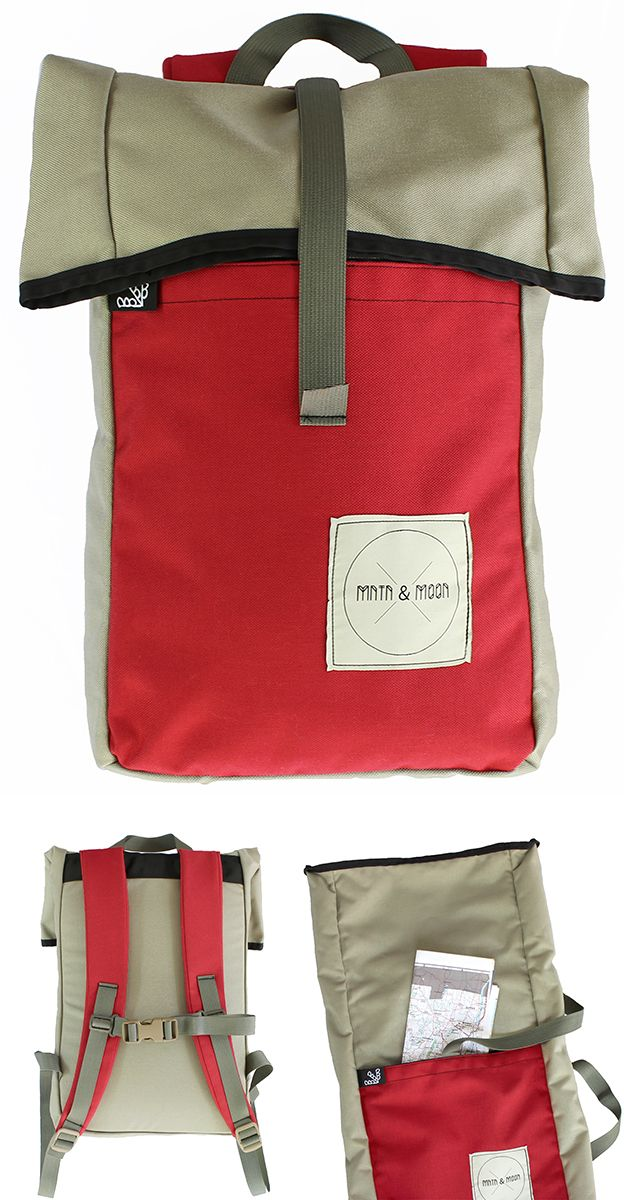 Mini Knappsack Rolltop Backpack by Mntn   Moon X Buck Products  ebaec9a883bcf