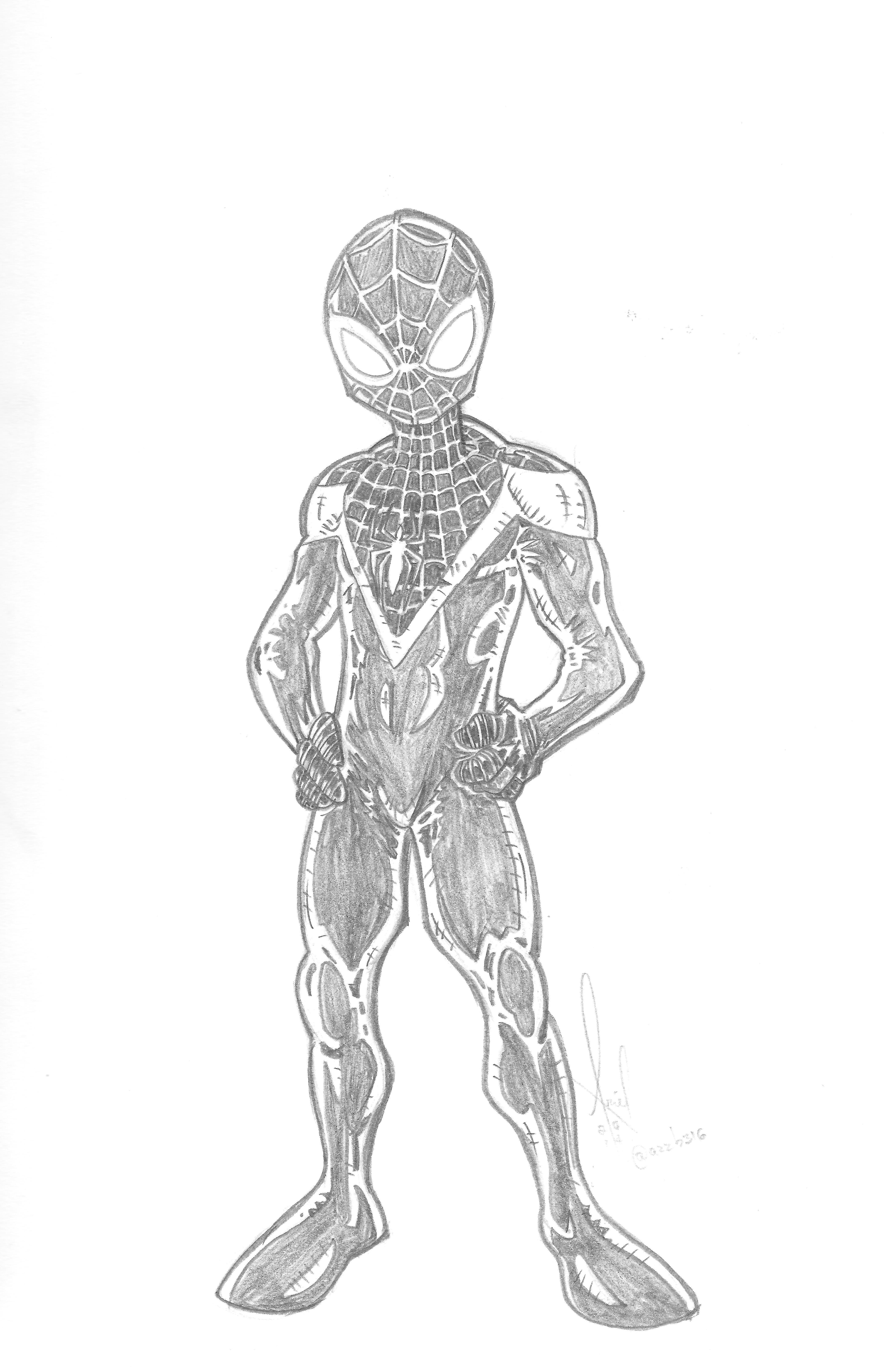 Ultimate Spiderman Miles Morales Arte
