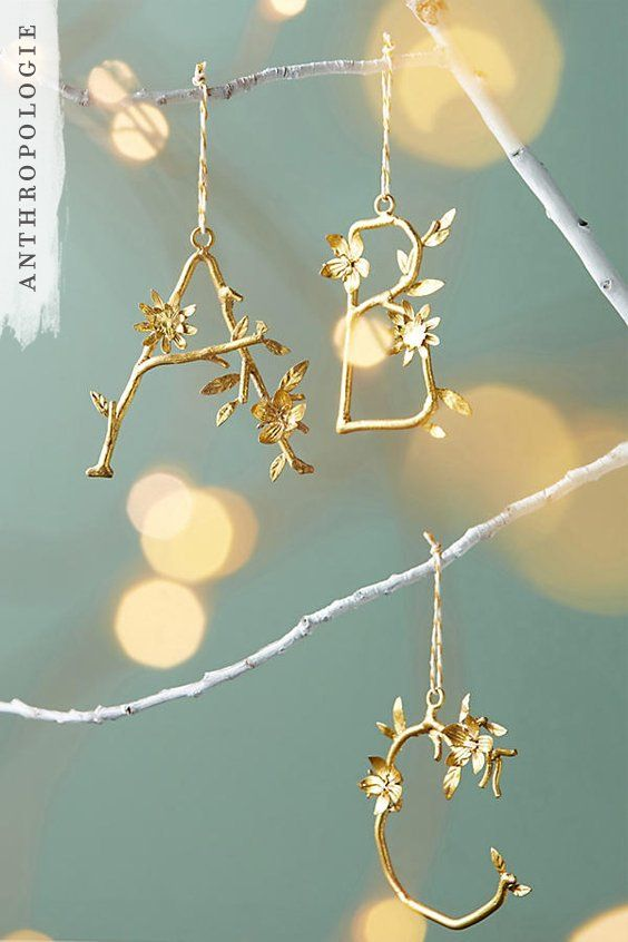 Time to personalise your tree with these wire alphabet letters ...