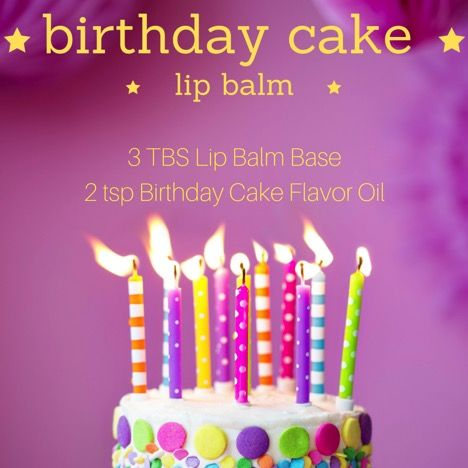 Birthday Cake Lip Balm Recipe 1