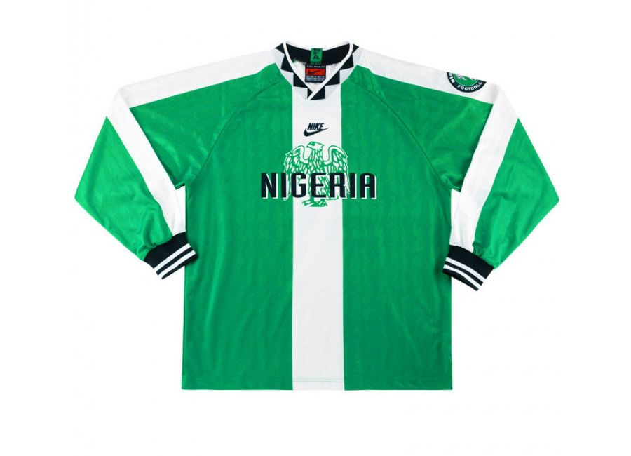 Nike 1996 98 Nigeria Match Issue Home Shirt Matchworn Nikefootball Footballshirt Vintage Football Shirts Vintage Football Football Shirts