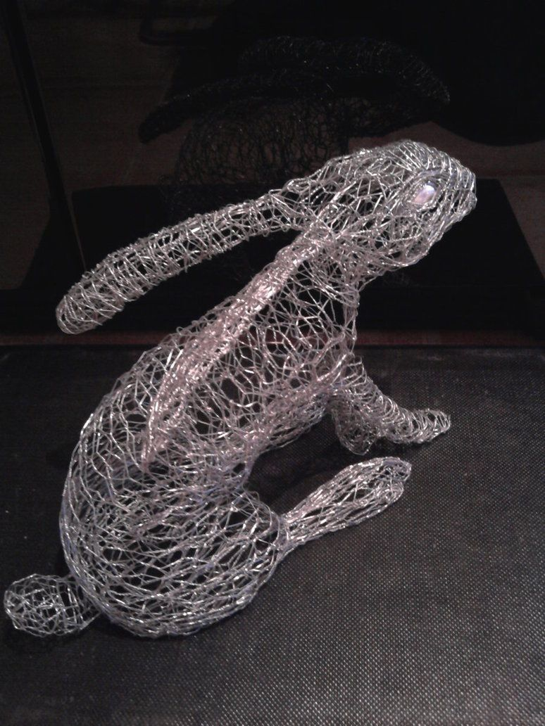 wire art rabbit by ~braindeadmystuff on deviantART | B U N N Y ...