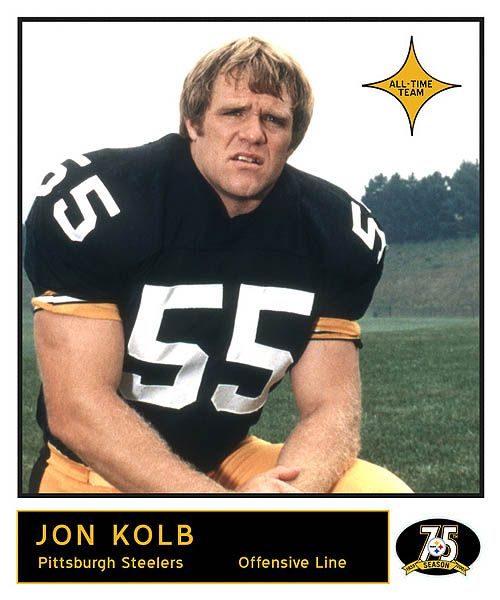 3b597874d54 Jon Kolb (born August 30, 1947) is a former American football player with  the Pittsburgh Steelers, where he played as offensive lineman for 13  seasons.