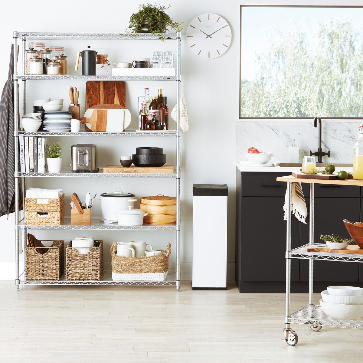 Our Metro Commercial Shelving Is The Original Chrome Plated Steel Shelving Used Professionally In Restaurant Shelving Open Kitchen Shelves Restaurant Shelving