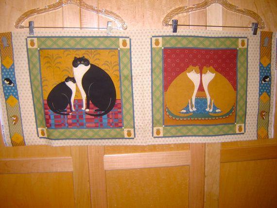 Fabric VIP Cat Gallery  Primitive Folk Art Style by fabricsmart