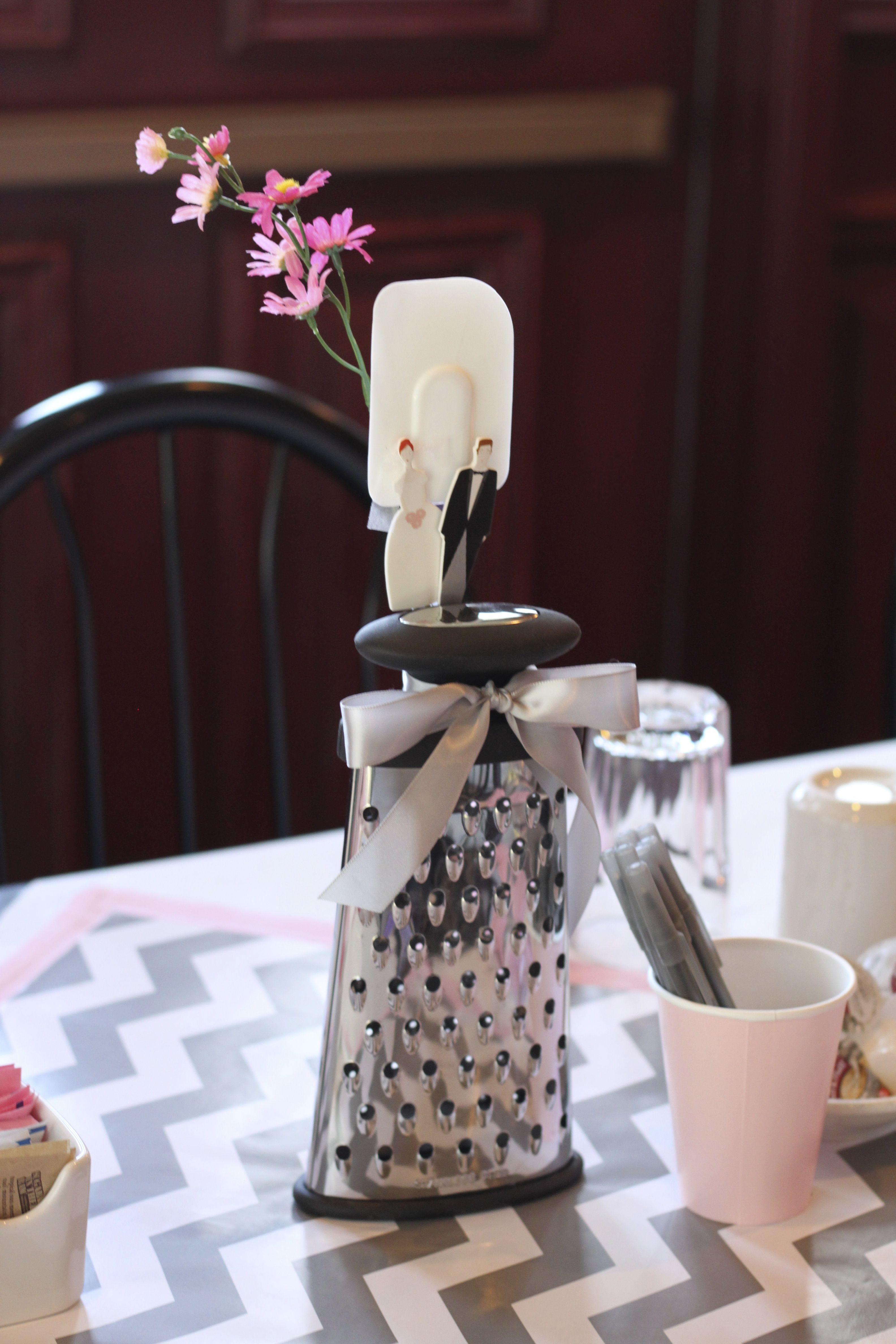 bridal shower centerpiece cooking theme grater photo wedding centerpieces wedding shower decorations