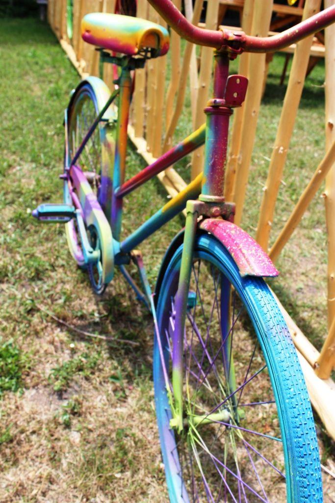 Spray Painted Bike Met Afbeeldingen