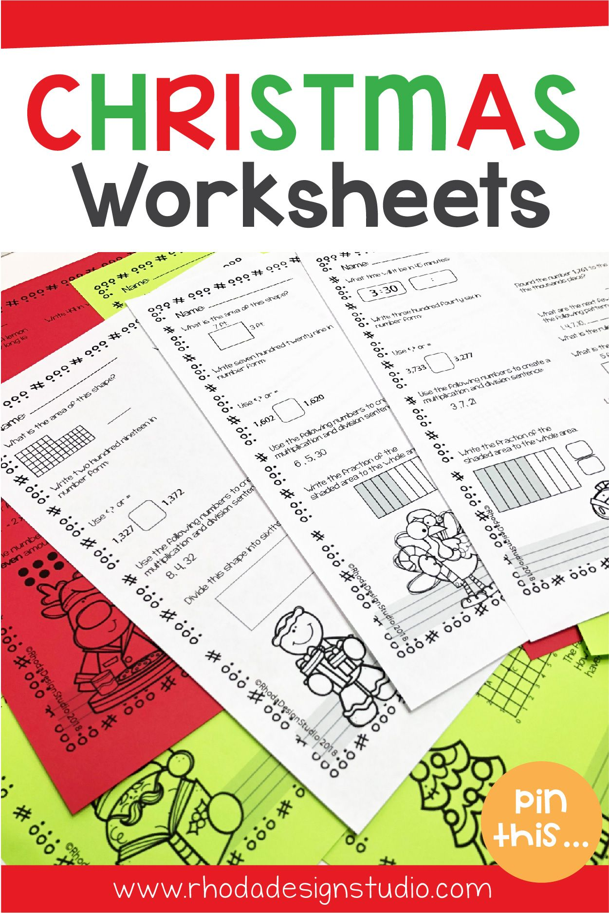 Christmas Math Worksheets Nwea Map Prep Math Practice Rit