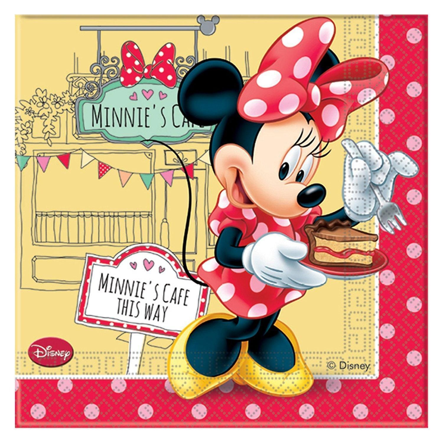 MINNIE MOUSE PACK OF 20 NAPKINS PARTY TABLEWARE DISNEY NEW GIFT