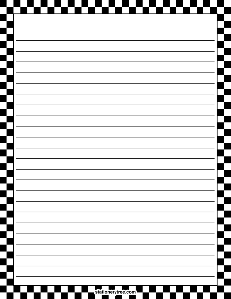 This is a picture of Refreshing Free Printable Stationary With Lines and Borders