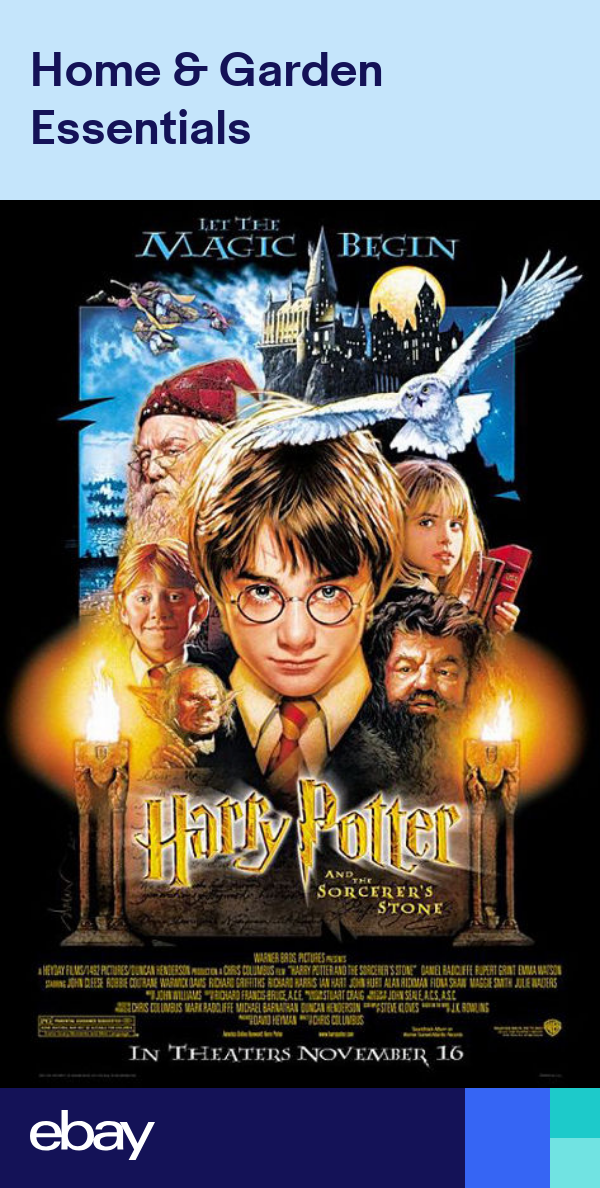 Harry Potter And The Sorcerer S Stone Movie Poster Regular 27 X 40 Harry Potter Movie Posters Harry Potter Poster Harry Potter Full Movie