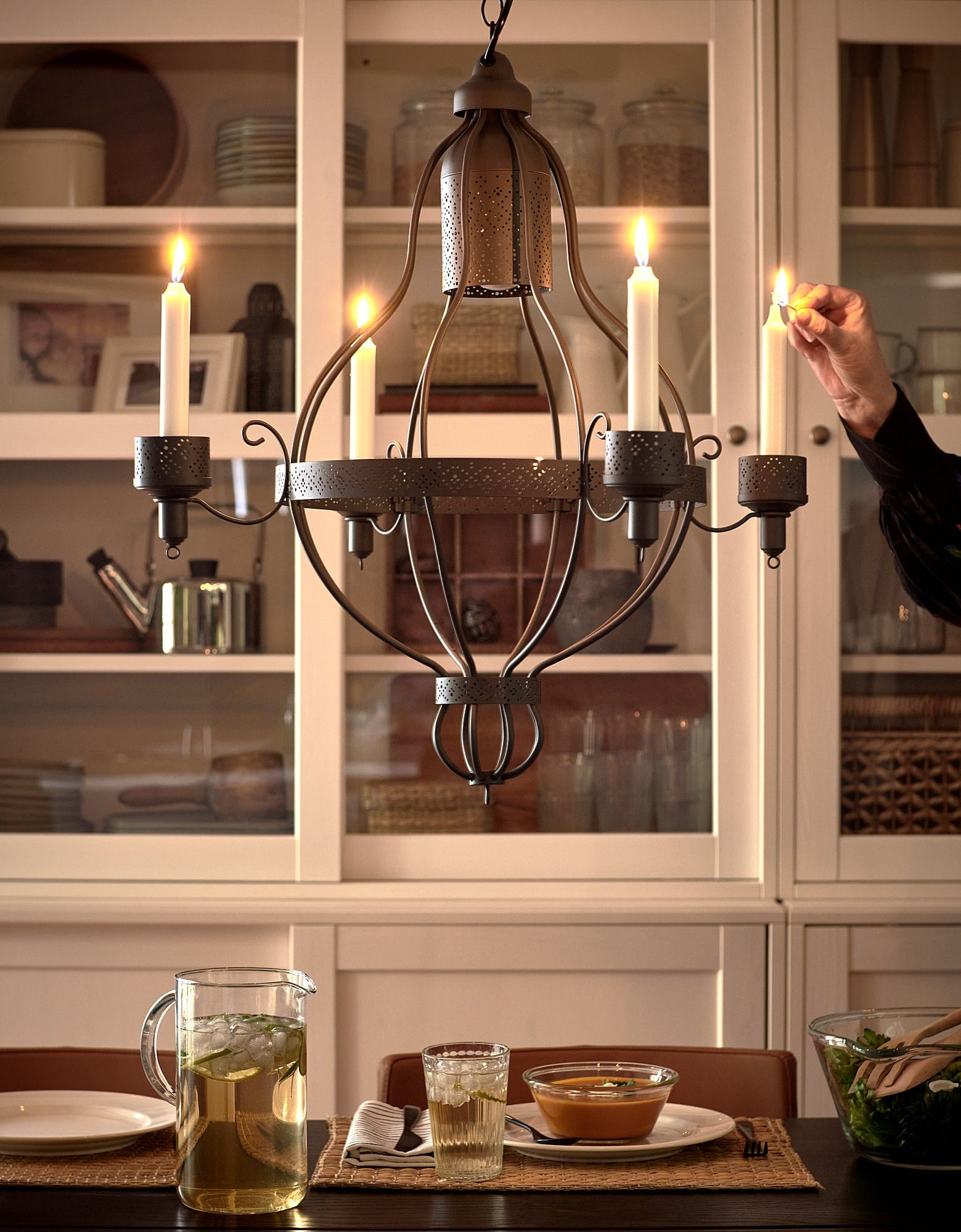 Appelviken Ljuskrona 4 Armad Ikea In 2020 Table Pendant Light Ikea Candles Fall Dining Room Table