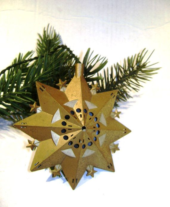 Vintage Electric Bird Chirping Star Ornament, Rare Shape