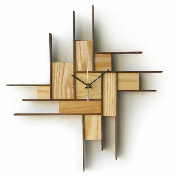 Wooden Clock Wood Wooden Clock Woodclock Woodworking