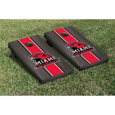 Victory Tailgate NCAA Stained Version Cornhole Game Set Color:
