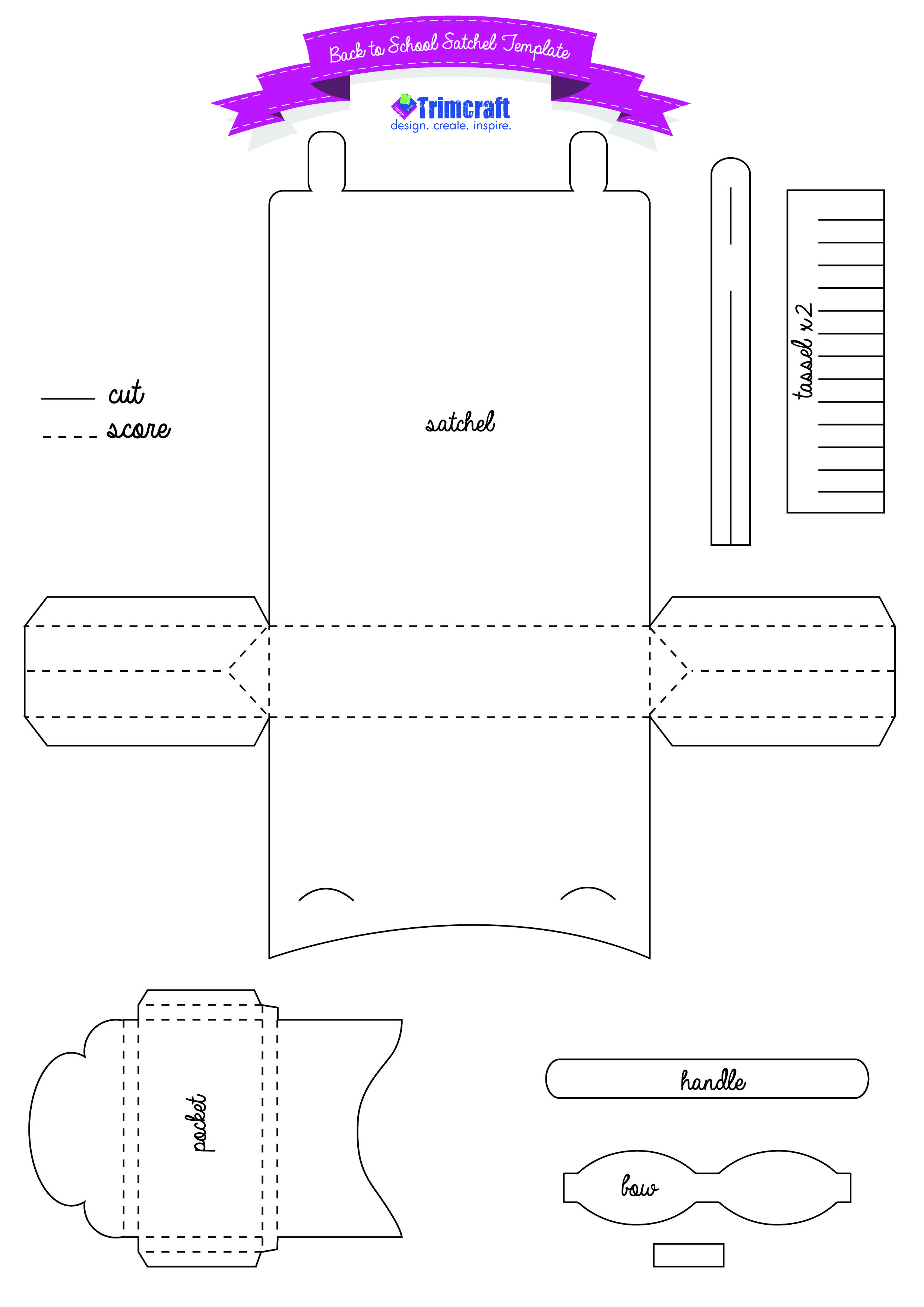 DIY Back to School Me to You Paper Satchel template | Paper Crafting ...