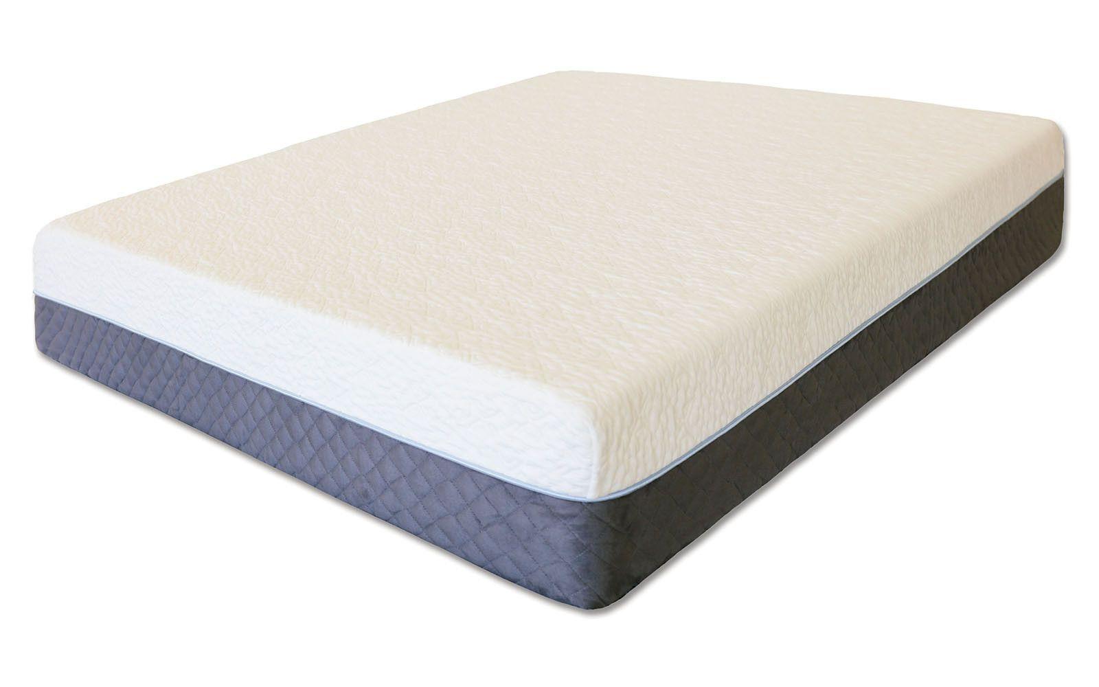 caroline traditional white 10 inch twin memory foam mattress