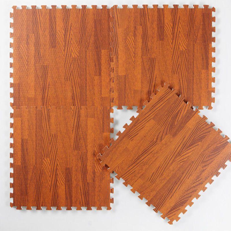 9pcs (30*30cm)Imitation Wood Foam Exercise Floor Mats Gym Garage Kids Play Mats