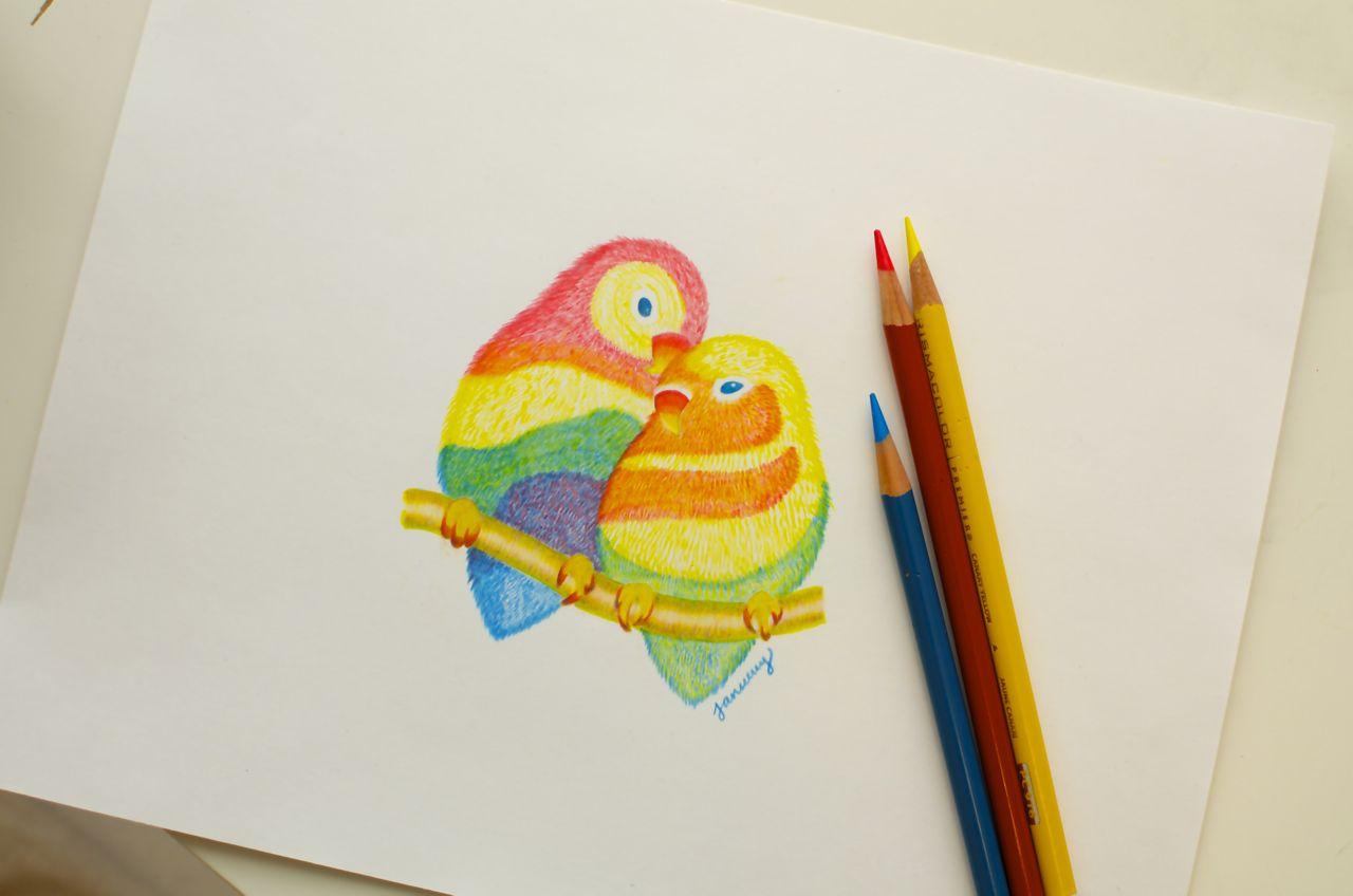 "The artwork behind the ""If you're a bird I'm a bird"" iPhone case #birds #iphonecase #art"
