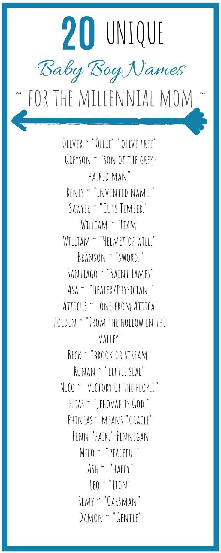 Unique Millennial Baby Boy Names