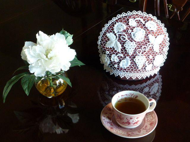 Tea cozy - made in Irish Crochet technique. Pattern available ...