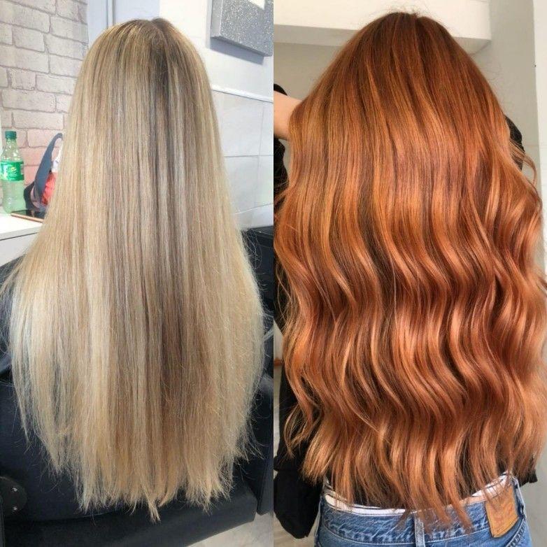 Blonde To Copper Hair Transformation Ginger Hair Laurenlovesblog Blonde Hair Transformations Copper Blonde Hair Hair