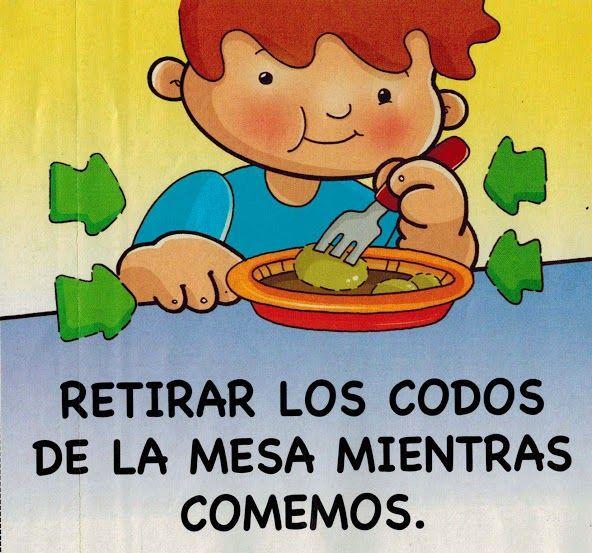 Maestra De Infantil Normas Para Comer En La Mesa Habitos De Alimentacion E Higiene Buenos Modales Para Ninos Buenos Modales Habitos De Higiene