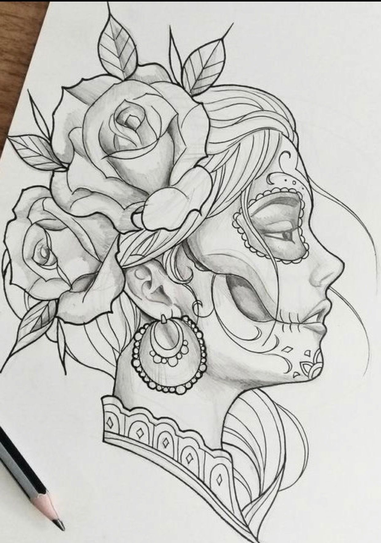 Pin De Daniel Santos En Pencil Drawing Dibujos A Lapiz Increibles Catrinas Dibujo Dibujos Para Tatuar