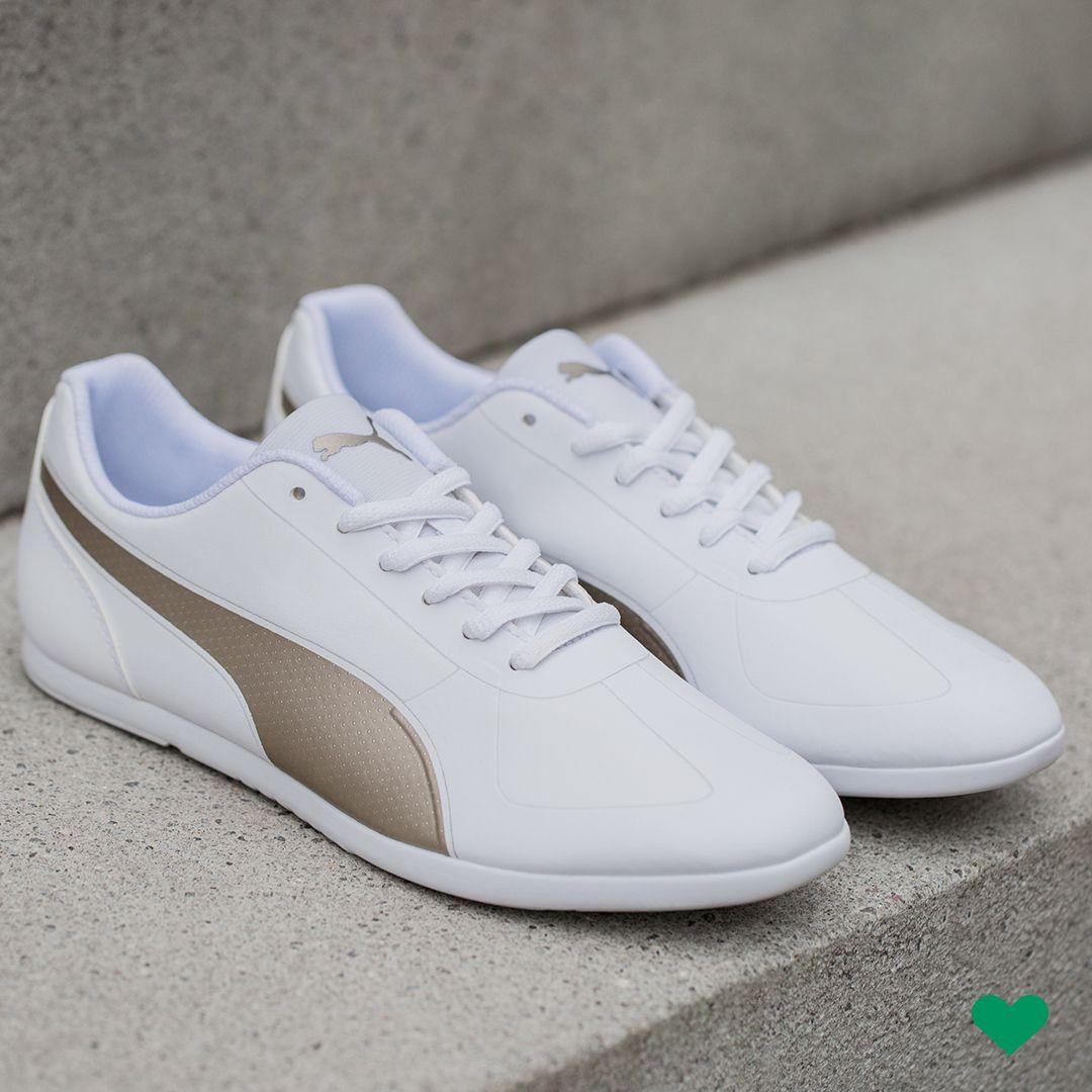 Feminine #Sneaker von #Puma MODERN SOLEIL SL in weiß und gold passt zu jedem Anlass und findet ihr in unseren Shops für 54,90€