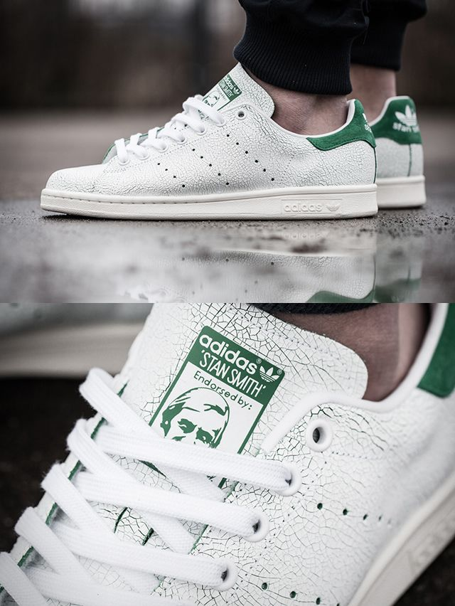 15a24a3f36a2b9 Adidas Stan Smith Cracked Leather