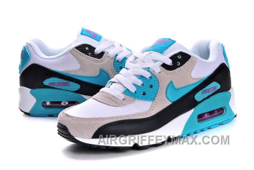 084712f30b New Nike Air Max 90 Womens Blue Black Grey White Black Friday Deals ...