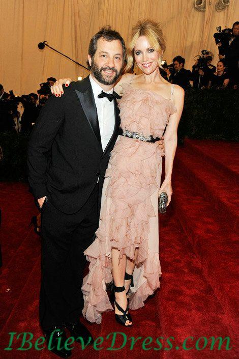 Ruffles High Low Leslie Mann Evening Prom Dress 2012 Met Gala Ball ...