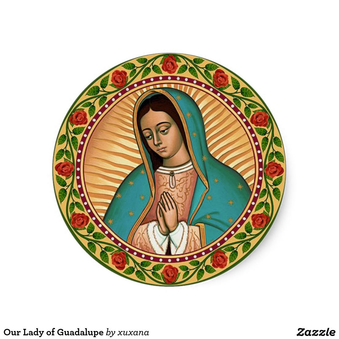 Set of 2 Holy Mary of Guadalupe /& Holy Mary Immaculate Conception Sticker Decal